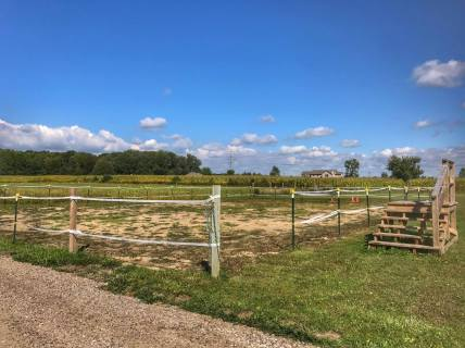 Arena used for therapeutic horseback riding lessons